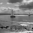 Yachts off Burnham-on-Sea by Antony R James