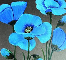 Blue Poppies by maggie326