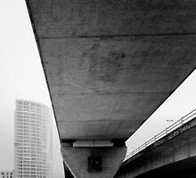 Belfast  , Bridge , Queens Quay by Zdrojewski