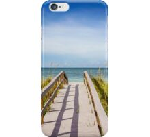Board Walking a Treasure Island Beach Get Away iPhone Case/Skin