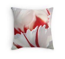Tulip Flowers art prints Pink White Tulips Photography Throw Pillow