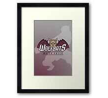 White Falls Wolfbats Framed Print