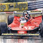 Ferrari  312T4 Gilles Villeneuve Monaco GP 1979 by Yuriy Shevchuk