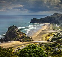 Piha Beach by Russell Charters