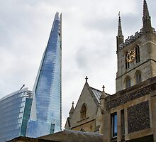 Southwark Cathedral vs The Shard.  Old and new in London by 7horses