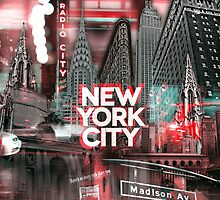 New York City [red] by IER STUDIO