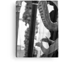 HARP ENTHUSIAT GREETING CARD Canvas Print