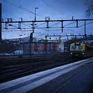 Train in the blue by danielasynner