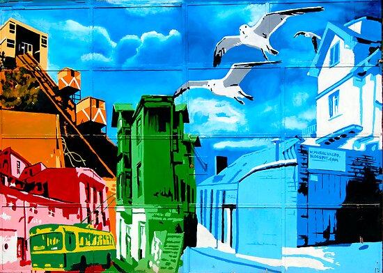 Street Art Valparaiso Chile 11 by Kurt  Van Wagner