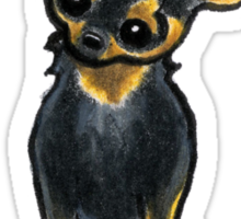 Black/Tan Chihuahua Sit Pretty Sticker