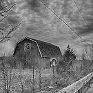 Shireland Barn - B&W by yellocoyote