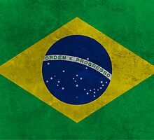 Grunge Brazilian Flag by Almdrs