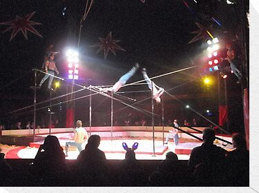 Zippo's Circus/Cuban Troupe Acrobats -(150413)- Digital Photo/FujiFilm FinePix AX350 by paulramnora