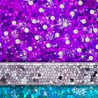 Purple Glitter Bling Turquoise Blue Aquamarine Amethyst by rozine