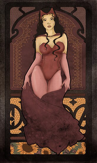 Scarlet Witch art nouveau / Wanda Maximoff by koroa
