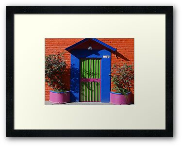 Colored Front-Door - Puerta De Casa De Colores  by Bernhard Matejka