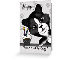 Cat Birthday Card Saying Happy Purrr-thday! Greeting Card