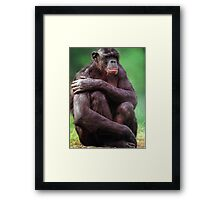 VERY UPSET GORILLA GORILLA GREETING CARD Framed Print