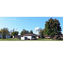 Bay City - Grain Storage Facility and Water Tower Photographic Print