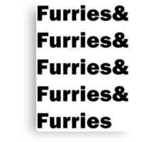 Furries & Furries Canvas Print