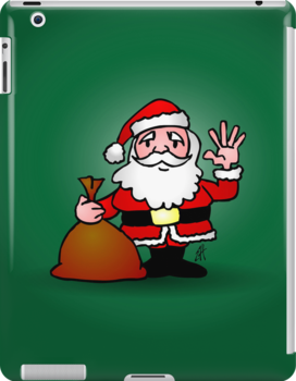 Santa Claus waving by cardvibes