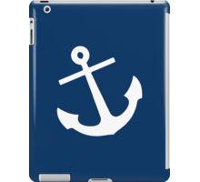 Navy Blue Anchor iPad Case/Skin