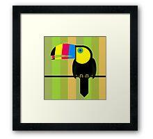 CMYK Toucan Framed Print