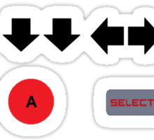 Konami Code Cheat Sticker