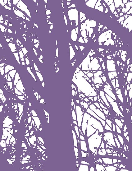 Purple Trees by Tamsin George