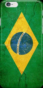 Brazil Flag in Grunge by pjwuebker
