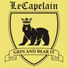 LeCapelain Family Crest (black) by fireflyjar