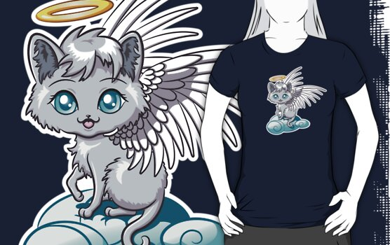 Angel Cat Chibi by Stephanie Jayne Whitcomb