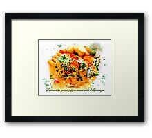 Il Casale ~ salmon in green pepper sauce with asparagus Framed Print
