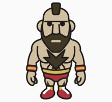 Zangief, the Red Cyclone of Street Fighter Kids Clothes