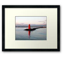 Dublin Harbour Lighthouse Framed Print