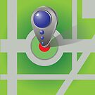 Icon of map marker by valeo5