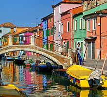 Burano reflections by Rob Meredith