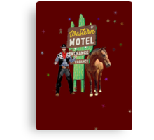 western motel Canvas Print