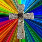 colorburst Lord's prayer cross by dedmanshootn