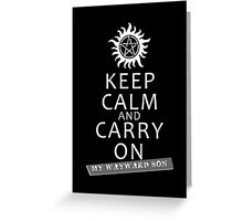 Keep Calm 2 Greeting Card