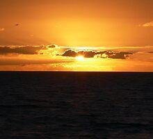 Sunset over Chesil Beach by MattyChu