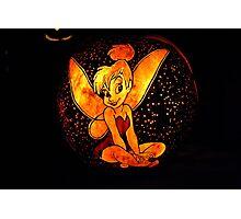 Tinkerbell Jack-O-Lantern Photographic Print