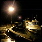 Night harbour by Carmel Abblitt