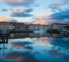 Constitution Dock at sunset by Josh Mehlman