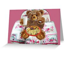 ✾◕‿◕✾ EVEN TEDDYBEARS HAVE TO EAT TOO HUGS✾◕‿◕✾  Greeting Card