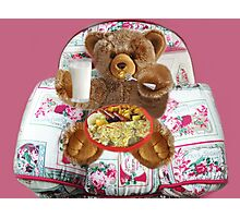 ✾◕‿◕✾ EVEN TEDDYBEARS HAVE TO EAT TOO HUGS✾◕‿◕✾  Photographic Print