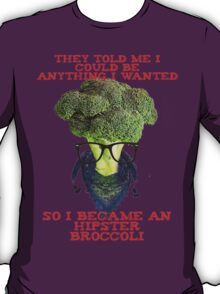 Hipster Broccoli T-Shirt