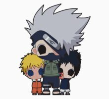 Naruto, Kakashi and Sasuke Chibi by RoseSword