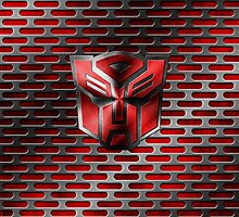 Autobot Symbol - Damaged Metal 4 by Jeffery Borchert