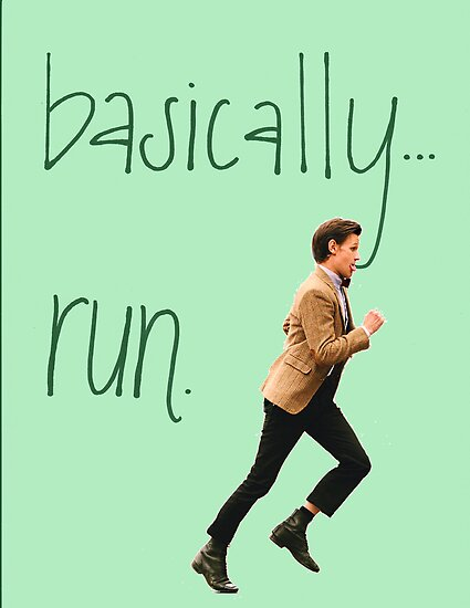 Basically...Run. Matt Smith by jamiedanis